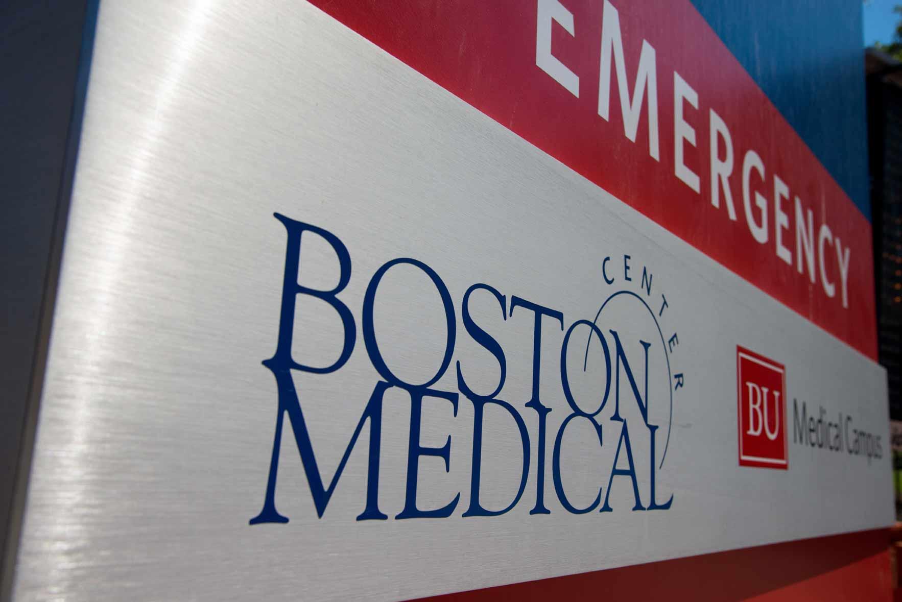 BMC Emergency Department signage