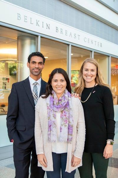 Maria with Dr. Nilton Medina and Jillian Strassner, PA