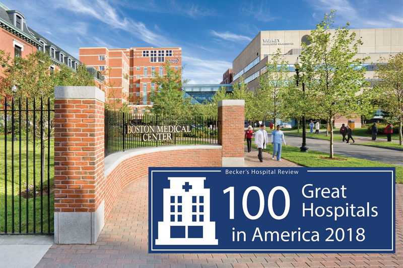 "BMC Named One of Becker's Hospital Review's ""100 Great Hospitals in America"""