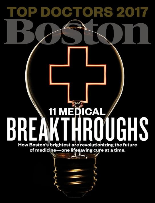 Boston Magazine 2016 Top Docs Issue Cover