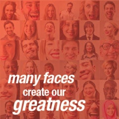 many faces create our greatness