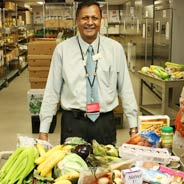 Latchman Hiralall is the Manager of the Preventative Food Pantry at BMC.