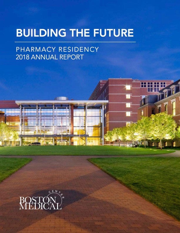 Building the Future Pharmacy Residency 2015-2016 Annual Report