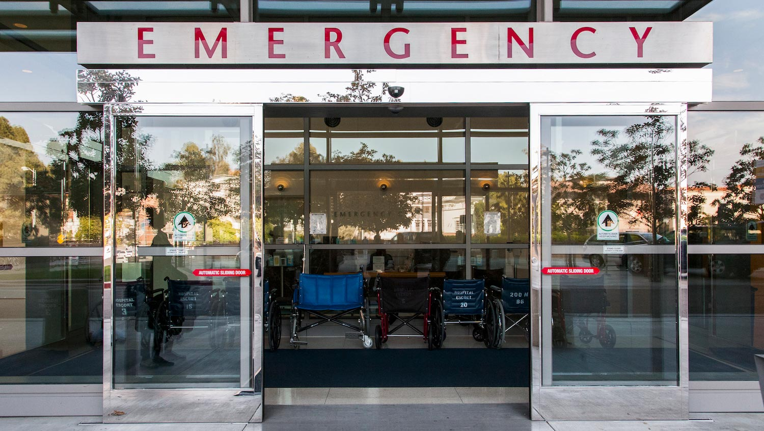 Entrance to an emergency room, where many people turn for their behavioral health needs.