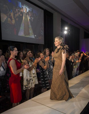 Jill Ross at Catwalk for Cancer