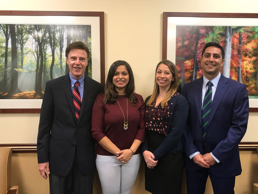 Charles River Primary Care Provider Team October 2017- from left to right: Dr. Richard Ress, Dr. Amola Shertukde, Kelsey Perkins, FNP, Dr. Nathan Cardoos