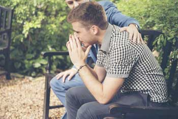 Parent Comforts Child | Family can be an overlooked resource for those faced with Substance Use Disorder.