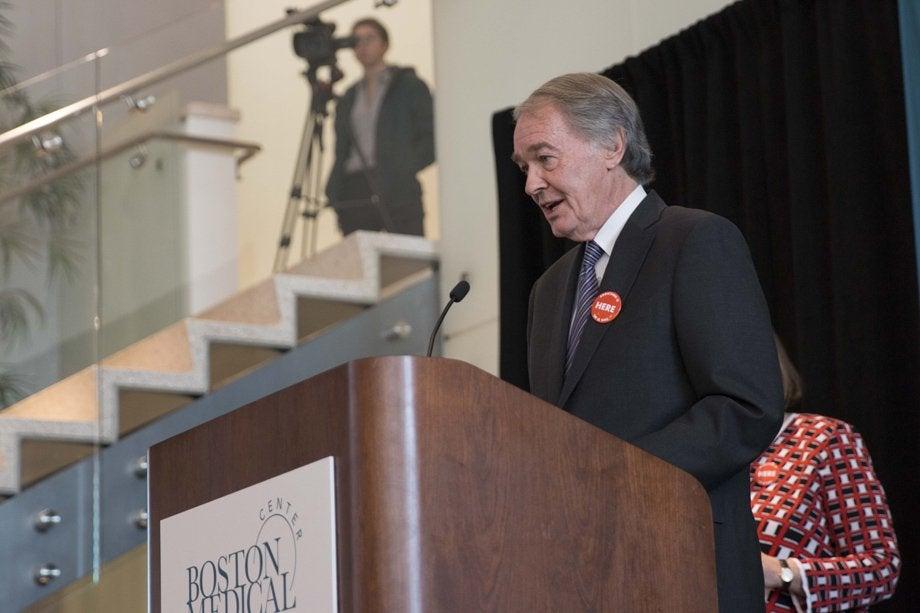 Massachusetts Governor Charlie Baker speaking at the Grayken Gift ceremony