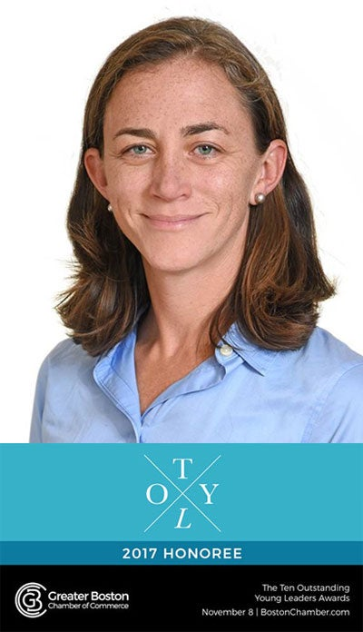 Sarah Bagley, MD, was recently named one of the Greater Boston Chamber of Commerce's 2017 Ten Outstanding Young Leaders (TOYL)