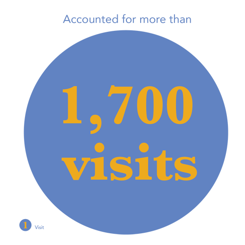 Accounted for more than 1700 visits