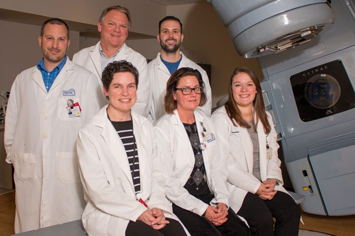 Team of Radiation Therapy providers, in the order described below