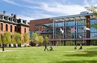 BMC Campus - Moakly building in springtime