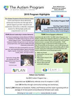 The Autism Plan at Boston Medical Center: Page 5