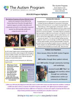 The Autism Plan at Boston Medical Center: Page 6