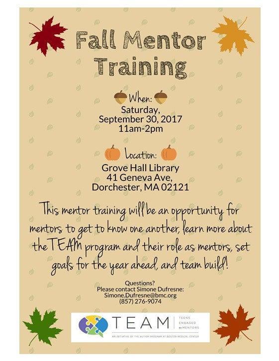 Fall Mentor Training