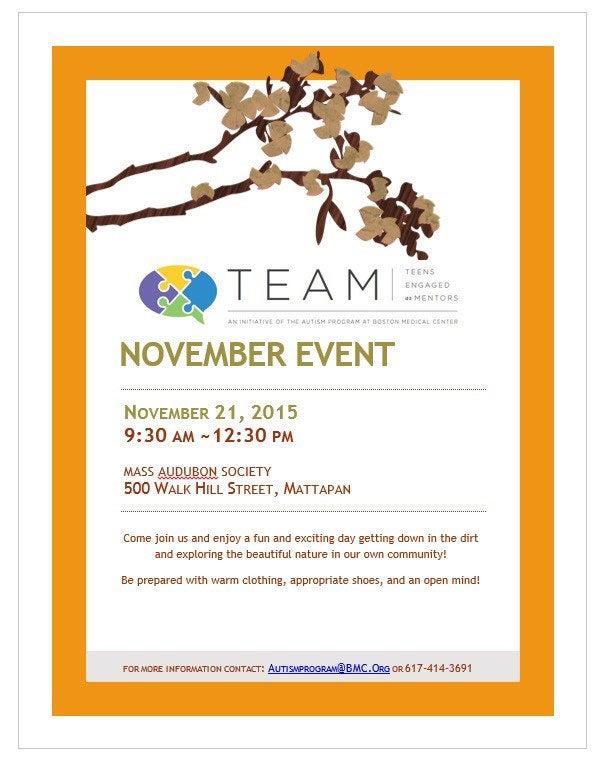 TEAM November Event