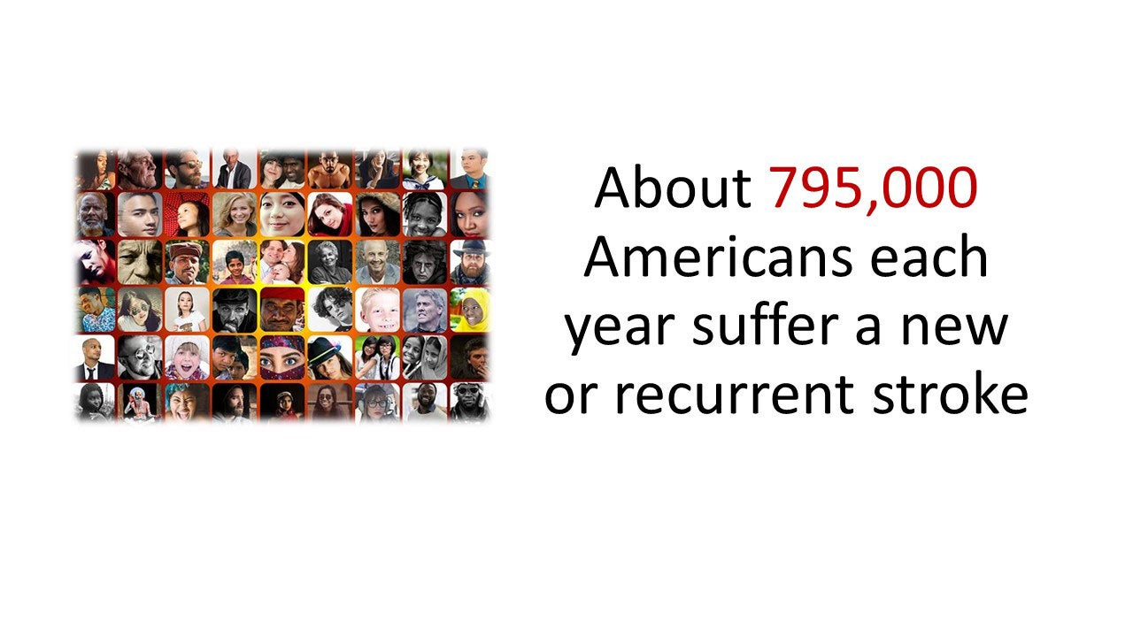 About 795,000 Americans each year suffer a new or recurrent stroke.