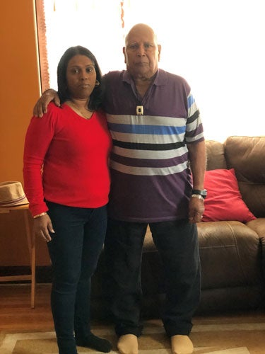 Shamila Buchan and her father, Moonsamy Buchan