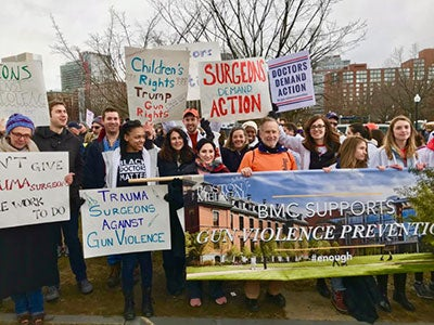 "SRS members had an active presence at the ""March for Our Lives"" rally to end gun violence  in 2018."