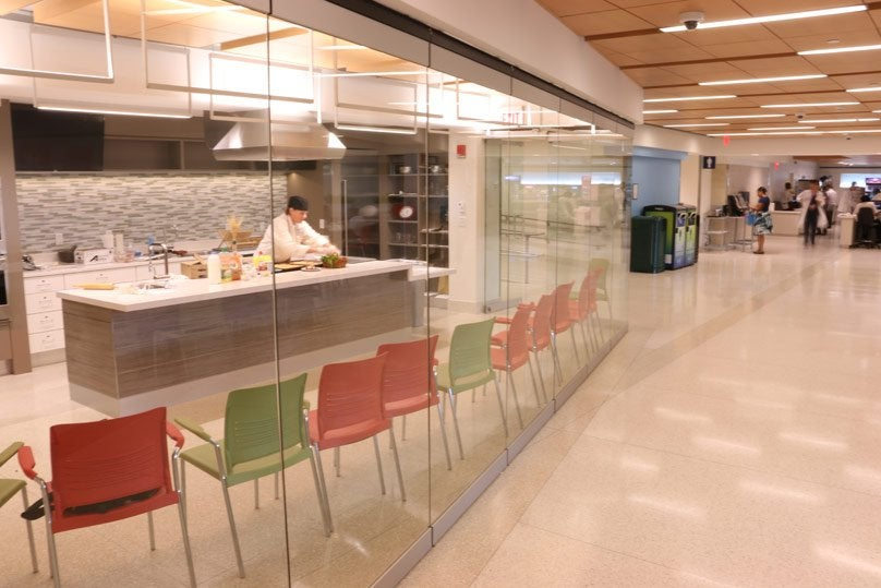 The Teaching Kitchen attached to the Yawkey Cafeteria