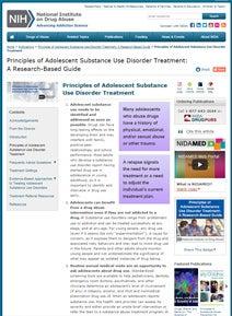 thumbnail showing NIDA principles of care