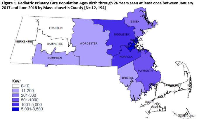 Figure 1. Pediatric Primary Care population in Mass