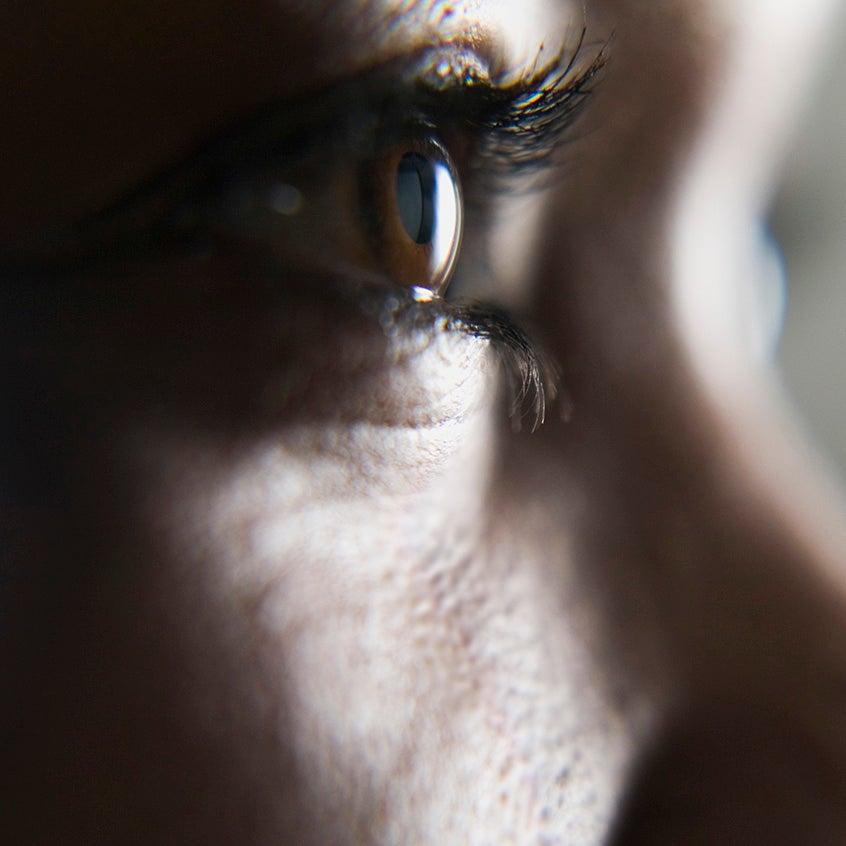 Close frame of eye