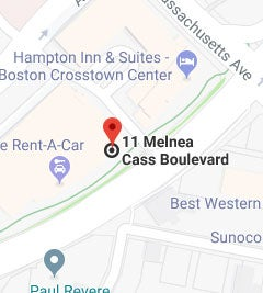 Google map showing 11 Melnea Cass Blvd