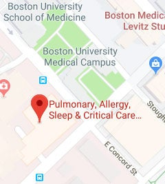 Google map to Pulmonary, Allergy, Sleep and Critical Care Medicine at Boston Medical Center