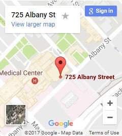 Google map showing 725 Albany St