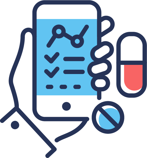 Request prescription refills icon