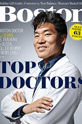 Boston Magazine cover featuring Top Doctors